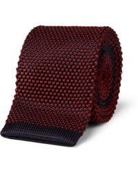 A.P.C. - Twotone Knitted Tie - Lyst
