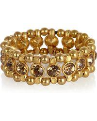 Philippe Audibert Amelia Gold-Plated Swarovski Crystal Bracelet - Lyst