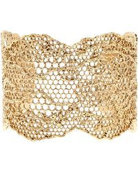 Aurelie Bidermann Laser Cut Lace Cuff gold - Lyst