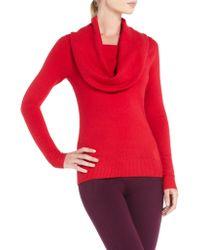 BCBGMAXAZRIA Love Cowlneck Sweater - Lyst