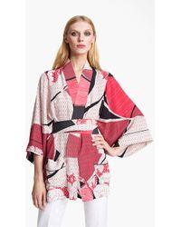 Emilio Pucci Elisse Print Crêpe De Chine Kimono - Lyst