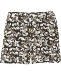 Emma Cook - High Waist Shorts With Rose Print - Lyst