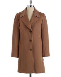 Fleurette - Buttonfront Wool Coat - Lyst