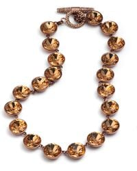 Juicy Couture - Gemstone Pave Toggle Necklace - Lyst