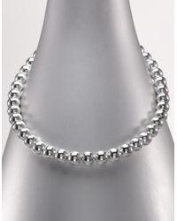 Lauren by Ralph Lauren - 10mm Metal Bead Necklace - Lyst