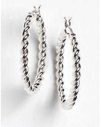 Lauren by Ralph Lauren - Braided Hoop Earrings - Lyst