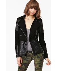 Nasty Gal Axis Quilted Coat - Lyst