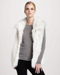 Pologeorgis Stand Collar Fox Fur Vest - Lyst