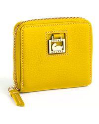 Dooney & Bourke Leather Zip Around Wallet - Lyst