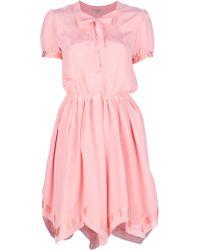 Nina Ricci Silk Dress - Lyst