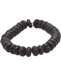 Ocnarf Sairutsa - Lava Bead Bracelet - Lyst
