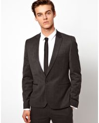 French Connection - Skinny Fit Gray Suit Jacket - Lyst
