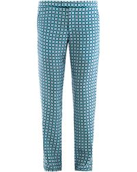 Richard Nicoll - Geometric-print Trousers - Lyst