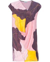 Vionnet Print Loose Fit Dress - Lyst