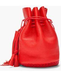 Wendy Nichol - Red Tassled Leather Bullet Bag - Lyst