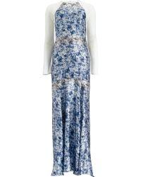 Yigal Azrouël Marble Night Silk Gown - Lyst