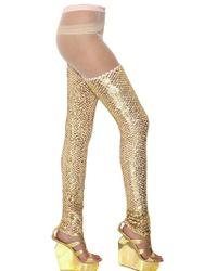 Manish Arora Sequins On Techno Net Leggings gold - Lyst