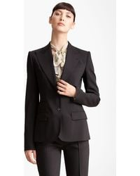 Dolce & Gabbana Two Button Stretch Wool Jacket - Lyst