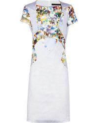 Aminaka Wilmont - Printed Stretch Cotton Dress - Lyst
