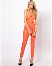 ASOS Collection Jumpsuit with Pleat Bust Origami Detail - Lyst
