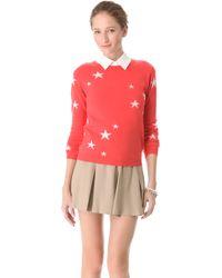 Chinti & Parker Intarsia Star Cashmere Sweater - Lyst