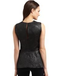 Elizabeth And James Brocade Peplum Top - Lyst