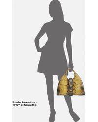 Gucci Python Stirrup Medium Top Handle Bag - Lyst