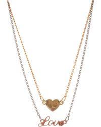Love - Asos Heart Choker Necklace Pack - Lyst