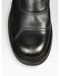 Maison Margiela Leather Boots - Lyst