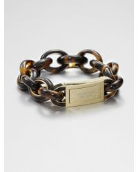 Michael Kors Tortoise Print Link Bracelet - Lyst