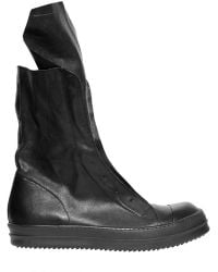 Rick Owens Nappa Leather Ramones Boots - Lyst