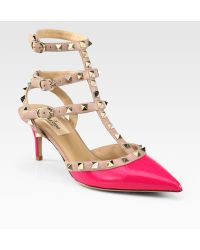 Valentino Studded Patent Leather Pumps - Lyst