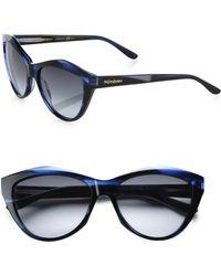 Saint Laurent Cat's Eye Acetate Sunglasses - Lyst
