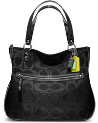 Coach Poppy Signature Metallic Outline Hallie Tote - Lyst