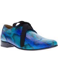 Lanvin Snake Skin Derby Shoe - Lyst