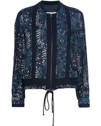 See By Chloé Embroidered Denim Jacket blue - Lyst