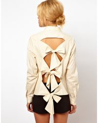 ASOS Collection Asos Shirt with Bow Back Detail - Lyst