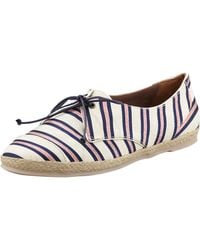 Tabitha Simmons Estriped Flat Espadrille Sneakers - Lyst
