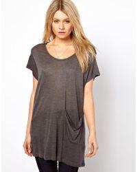 Asos Asos Tshirt with Drop Pocket in Loose Knit - Lyst