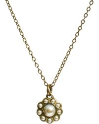 Cath Kidston - Daisy Pearl Necklace - Lyst