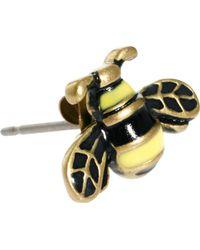Cath Kidston - Bumble Bee Enamel Earrings - Lyst