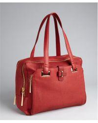 Kelsi Dagger Red Pebbled Leather Chelsea Satchel - Lyst