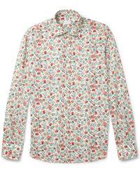 Slowear - Glanshirt Slimfit Printed Cotton Shirt - Lyst