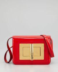 Tom Ford Natalia Medium Coral Red Patent Shoulder Bag - Lyst