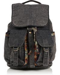 Topshop Aztec Acid Wash Backpack - Lyst
