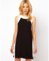 ASOS Collection Asos Shift Dress with Panel Detail - Lyst