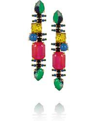 Erickson Beamon Aquarela Di Brasil Goldplated Swarovski Crystal Earrings multicolor - Lyst