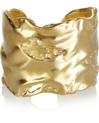 Kenneth Jay Lane 22karat Goldplated Cuff gold - Lyst