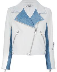 Acne Studios Rita Cropped Biker Jacket - Lyst