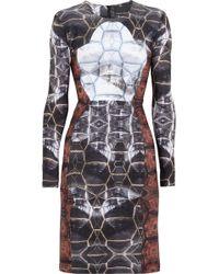 Cynthia Rowley Printed Neoprene Dress - Lyst